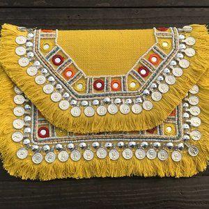 Boho Banjara Bag Women Sequin Beads Coins Fringe